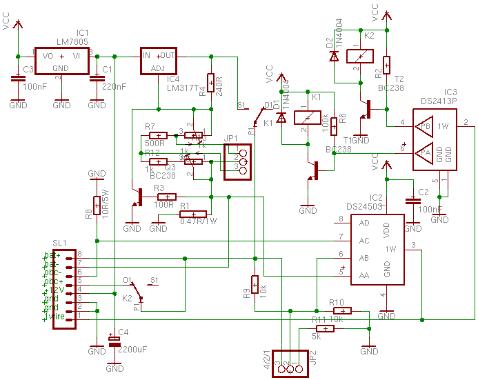 1-wire li-ion charger schematic diagram