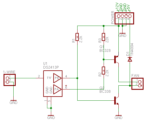 1-wire fan control schematic diagram