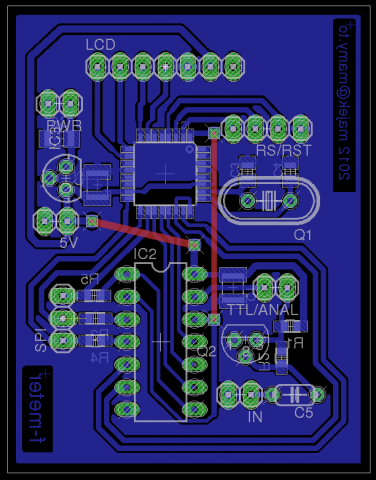 Frequency meter - PCB