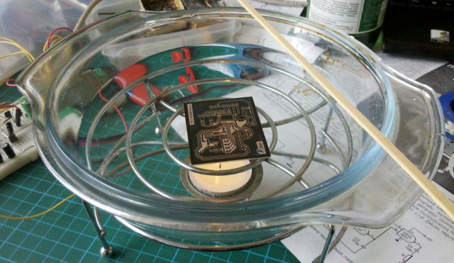 Frequency meter - making PCB in high speed :-)