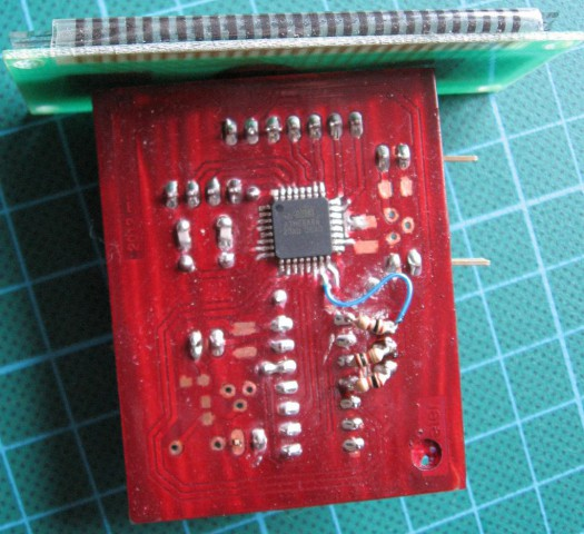 Frequency meter - assembled, bottom side