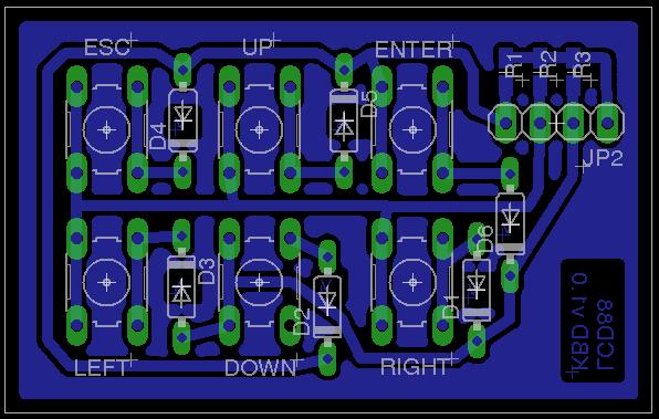 lcd88 keyboard - pcb