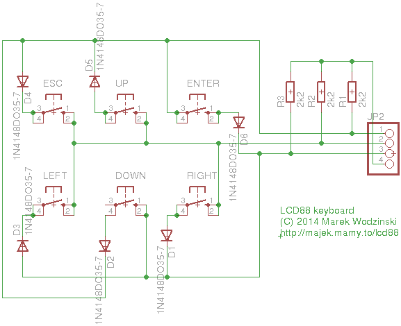 lcd88 keyboard - schematic